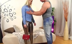 Cum faced clothed glam ho
