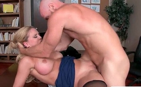(Cherie Deville) Big Rounds Jugg Girl Ger Hard Style Sex In Office video-13