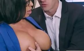 (Simone Garza) Hot Office Girl With Big Tits Love Hardcore Sex movie-29