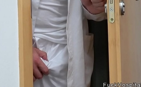 Doctor spying then fucking fair-haired