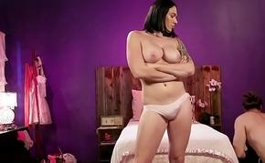 Pretentiously tits shemale gf bonks bf