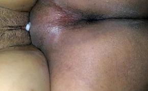My horny wife'_s creampie pussy