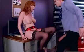 (Lauren Phillips) Hot Busty Girl In Hard Intercorse In Office movie-19
