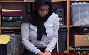 Arabic shoplifter sucks
