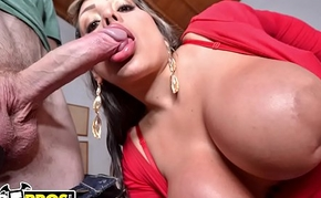 BANGBROS - Colombian MILF Sandra Gets Her Giant Titties and Big Ass Fucked By Brick Danger!