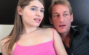 Worried stepdaughter Alice March fuck stepdad quick before mom come home