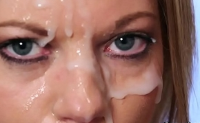 Spicy hottie gets sperm shot on her face gulping all the realm of possibilities